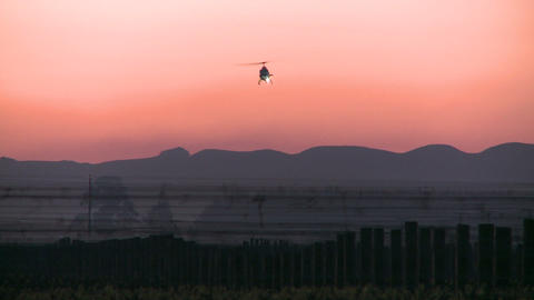 helicopter at dawn Stock Video Footage