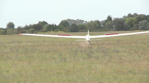 glider lands Footage