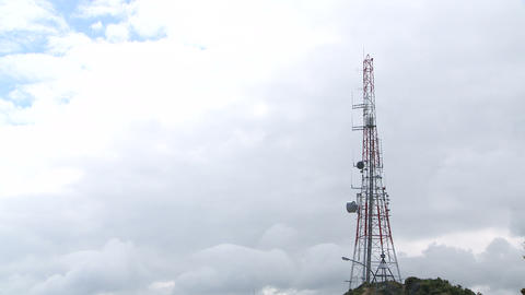 telecommunications tower Footage