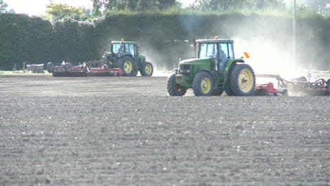 tractors cultivating Footage
