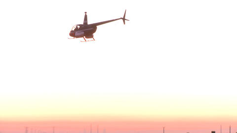 helicopter hovers over a vineyard Stock Video Footage