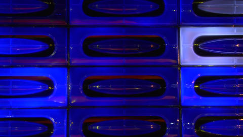 blue disco light wall loopable Stock Video Footage