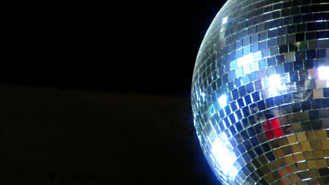 disco mirror ball right side Stock Video Footage