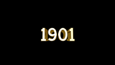 Year 1901 a HD Stock Video Footage