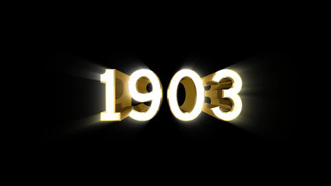 Year 1903 a HD Stock Video Footage
