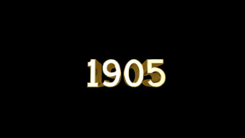 Year 1905 a HD Stock Video Footage