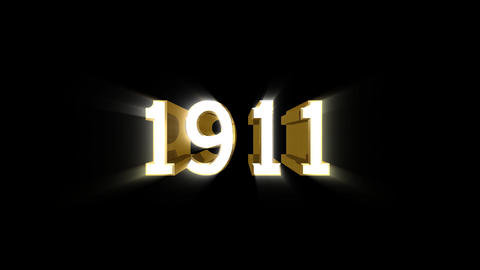 Year 1911 a HD Stock Video Footage