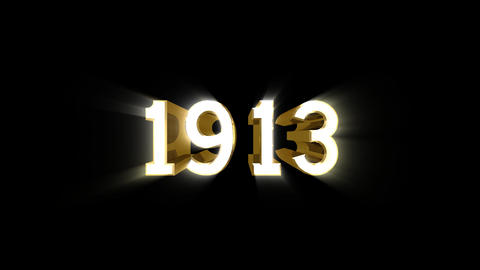 Year 1913 a HD Stock Video Footage