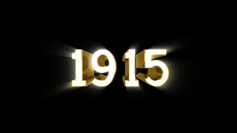 Year 1915 a HD Stock Video Footage