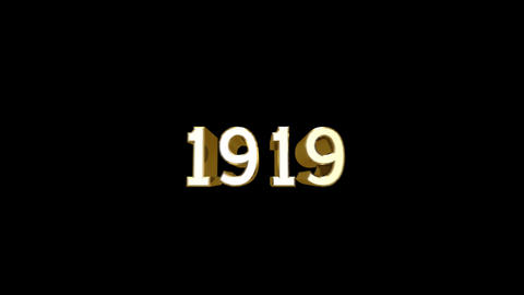 Year 1919 a HD Stock Video Footage