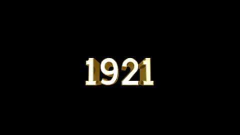 Year 1921 a HD Stock Video Footage