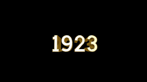 Year 1923 a HD Stock Video Footage