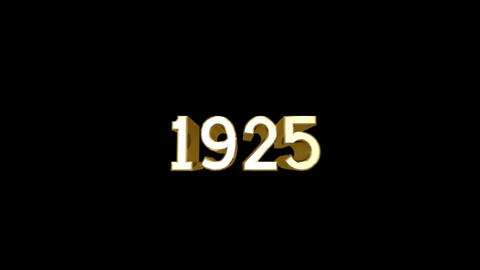 Year 1925 a HD Stock Video Footage