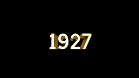 Year 1927 a HD Stock Video Footage