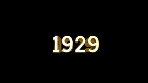 Year 1929 a HD Stock Video Footage