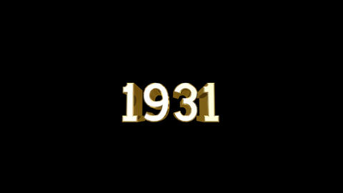 Year 1931 a HD Stock Video Footage