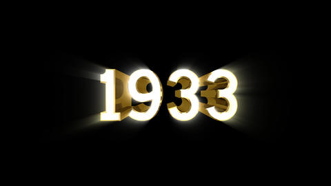 Year 1933 a HD Stock Video Footage