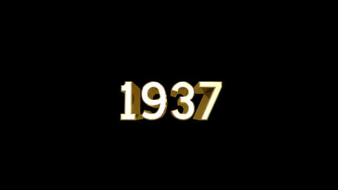 Year 1937 a HD Stock Video Footage