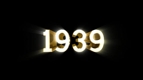 Year 1939 a HD Stock Video Footage
