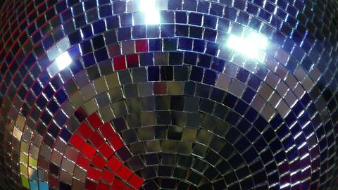 disco mirror ball super close Stock Video Footage