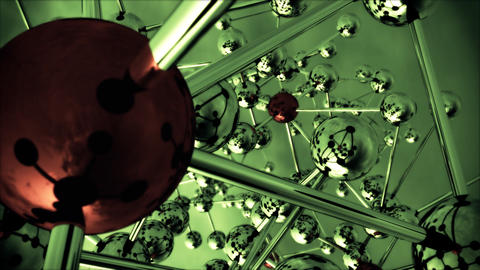 Abstract Molecular Structure Animation