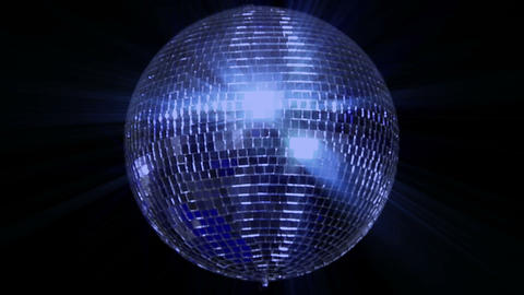 Blue Loop Disco Mirror Ball Series Center Wide stock footage
