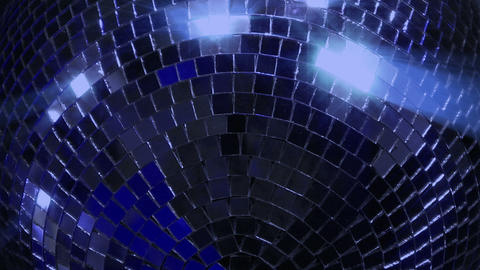 blue loop disco mirror ball series super close Stock Video Footage