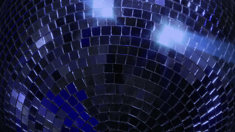 blue loop disco mirror ball series super close Footage