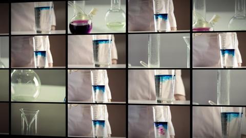 Laboratory panorama Stock Video Footage