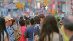 Crowd, Time Square, New York Stock Video Footage