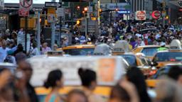 Crowd, New York City Stock Video Footage