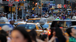 Crowd, New York City Stock Video Footage