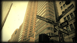 Road sign, Financial District Footage