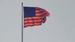 USA flag waving Stock Video Footage