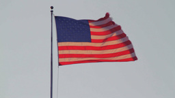 USA flag waving Stock Video Footage