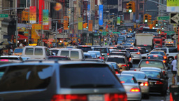 New York street, rush hour Stock Video Footage