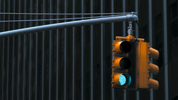 Traffic Light, New York City Footage