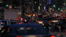 Traffic Jam NYC Stock Video Footage