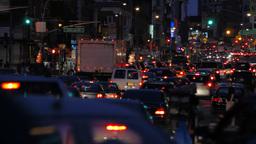 Traffic Jam NYC Stock Video Footage