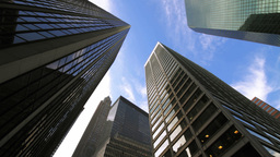 Corporate Buildings New York Stock Video Footage