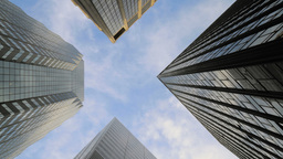 Skyscrapers Financial District Stock Video Footage