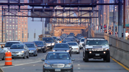 Street Traffic On Brooklyn Bridge Stock Video Footage