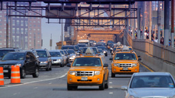 Brooklyn Bridge Street Traffic, New York City Stock Video Footage