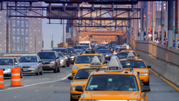 Brooklyn Bridge Street Traffic, New York City Footage