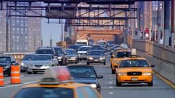 Brooklyn Bridge Street Traffic, New York City Stock Video Footage