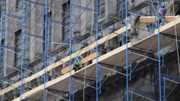 Construction Workers Stock Video Footage
