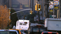 Park Avenue, New York City street traffic Stock Video Footage