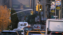 Park Avenue, New York City street traffic Stock Video Footage