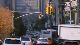 Park Avenue, New York City street traffic Footage