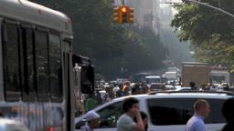 New York City street traffic Stock Video Footage
